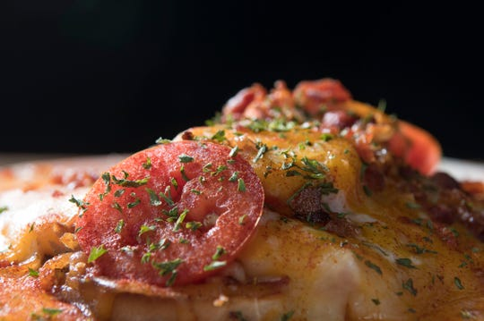 Hot brown prepared by Executive Chef Lucas Fleitz at Bluegrass Brewing Co. on 4th Street.