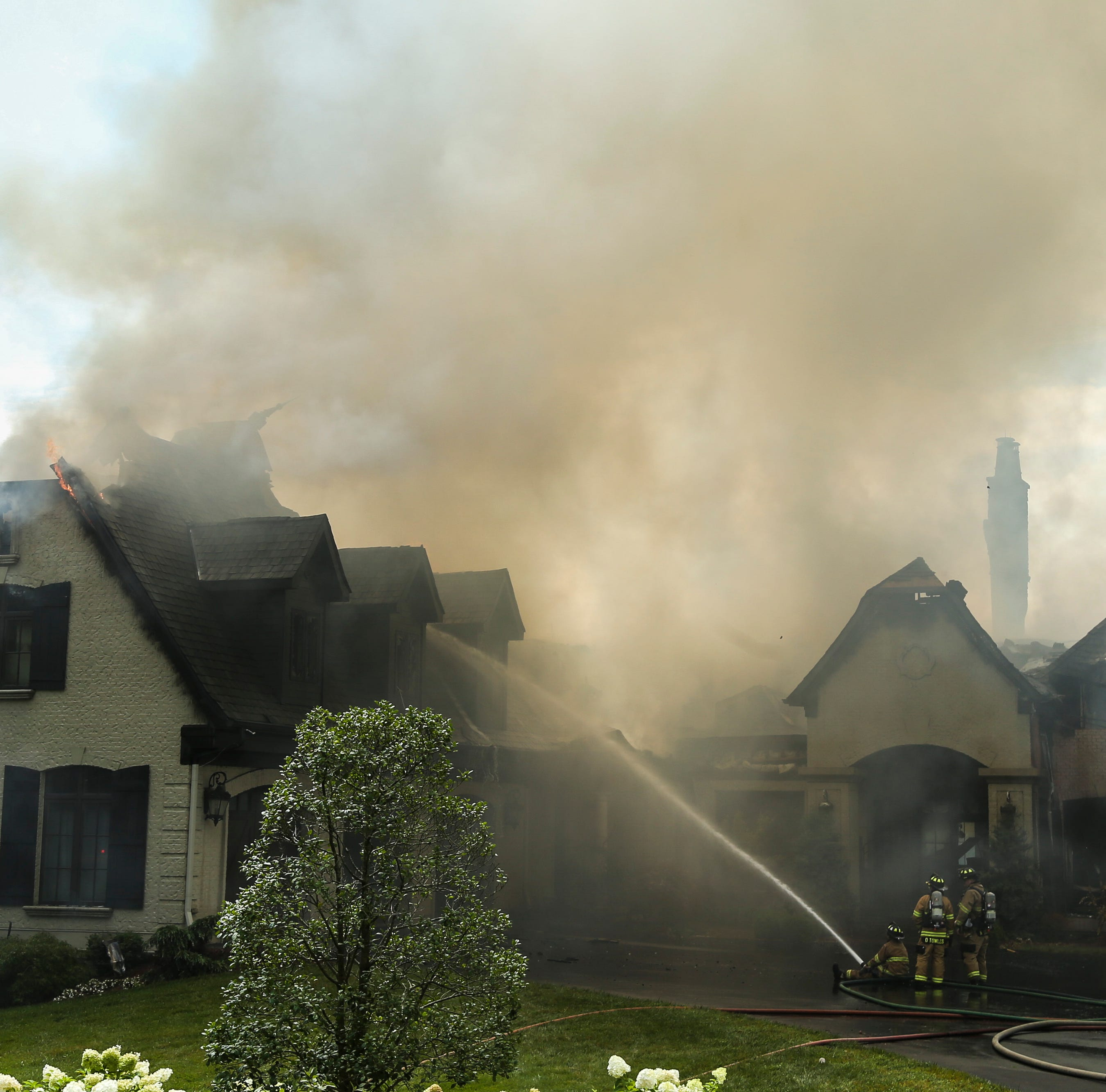 Massive fire nearly destroys $3.5 million mansion in Prospect