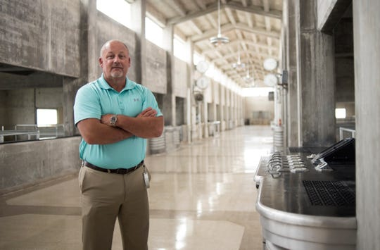Scott Hamelink, Director of Water Operations at Lansing Board of Water & Light, pictured in the John Dye Water Conditioning Plant, Tuesday, Aug. 7, 2018.