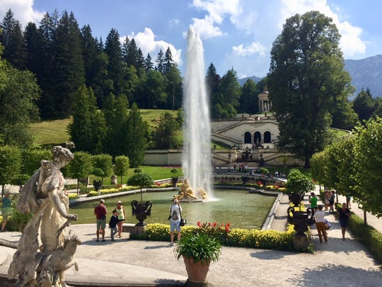 One of the sights from John O'Neill's visit to Germany: Linderhof Palace gardens, built by King Ludwig II, Oberammergau.