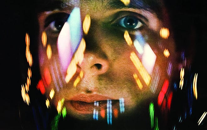 """The far-out light show was part of the attraction for 1968 audiences of """"2001: A Space Odyssey."""""""