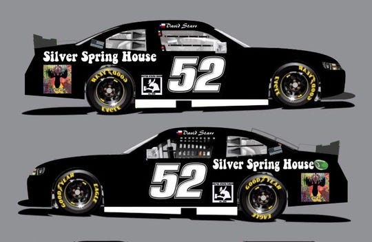 The Silver Spring House logo will appear above the rear tire of David Starr's Chevy Camaro during the Nascar Xfinity Series race at Road America on Aug. 25. The logos for Glendale, Glendale Police Department and the police department's K-9 unit will go above the top of the front wheel.