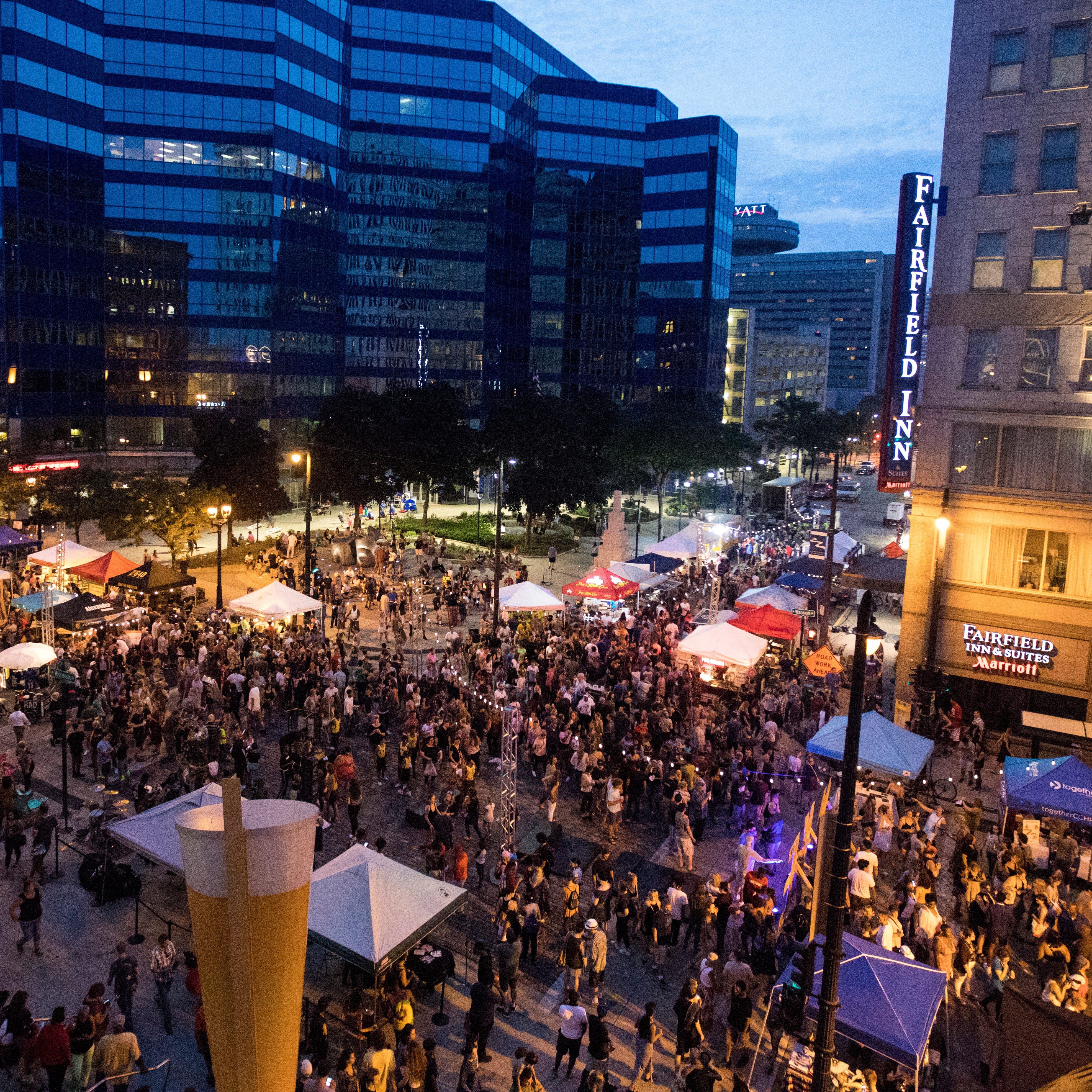 Shut down the streets. Have a party. Wisconsin night markets use fun to spur development.