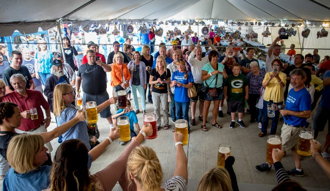 Stein holding-competitions are a popular part of the Oktoberfest revelry at Kegel's Inn.
