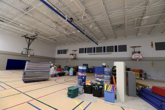 A new gymnasium is part of the Germantown's County Line Elementary School construction project.