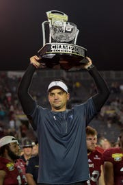 Neal Brown interviewed for the Arizona job in January that went to former Texas A&M coach Kevin Sumlin. Troy is 25-13 in Brown's three seasons with two double-digit wins and a Sun Belt co-championship over the past two seasons.