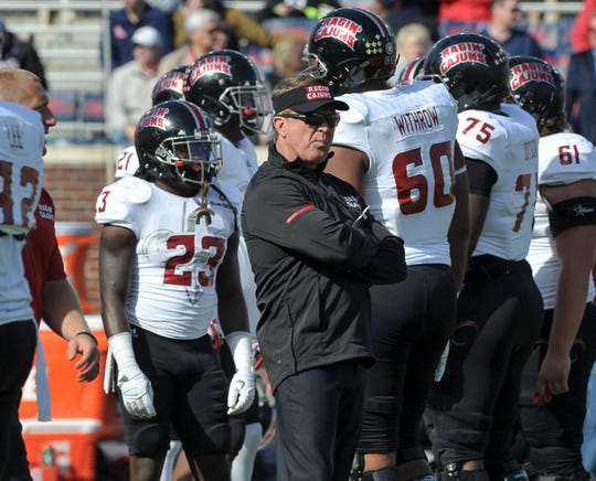 Mark Hudspeth's tenure at UL Lafayette began with four straight nine-win seasons and New Orleans Bowl wins. It ended when he was fired in 2017 after two losing seasons in three years and an NCAA investigation.
