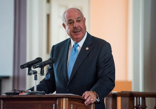 ADECA Executive Director Kenneth Boswell discusses the Alabama Counts 2020 Census Committee during a a press conference at the Alabama Capitol Building in Montgomery, Ala. on Monday August 20, 2018.