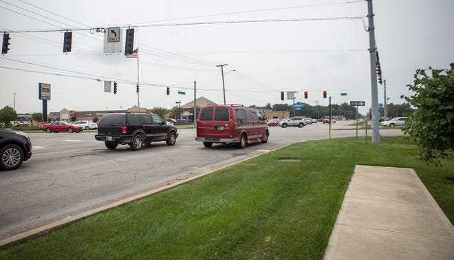 The intersection of West McGalliard Road and North Morrison Road will see pedestrian improvements with a new pedestrian crossing and sidewalks added to the area.