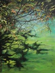 Marlene De Waele-DeBock, ÒCentennial Park,Ó 2017, acrylic on canvas.