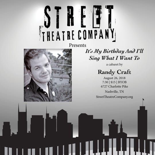 Randy CraftÕs cabaret at Street poster.