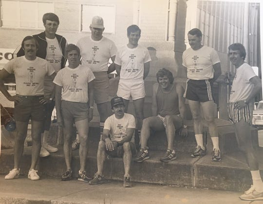 The original group of men who started the Franklin Classic in 1978, then known as the Franklin Cancer Run.