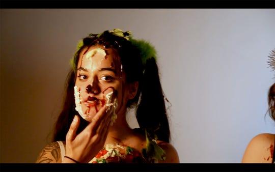 Mia Jones, still from ÒExperimental Cherry,Ó digital video.