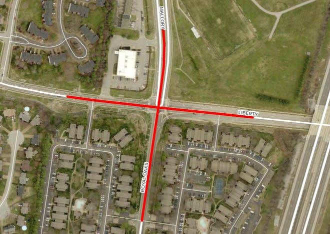 The cost to upgrade the Mallory Lane and Liberty Pikeintersection is estimated at $8.7 million.