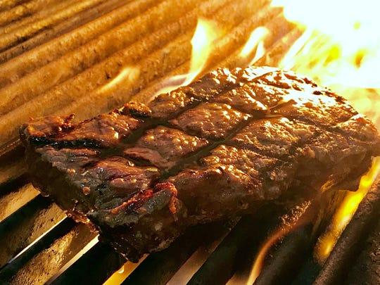 A Black Angus hanger steak is part of the Aviation Appreciation Week dinner menu this week at Dorona, a modern Italian steakhouse at 2110 U.S. 41 N. in Naples.