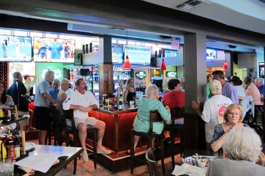 The bar at the new Chatterbox II restaurant, which opened Thursday in the former space of Under the Shady Palm on U.S. 41 in Naples.