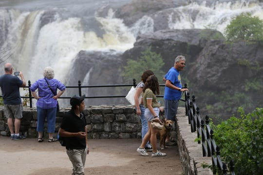 Visitors are shown at the Great Falls in Paterson on Monday, August 20, 2018.
