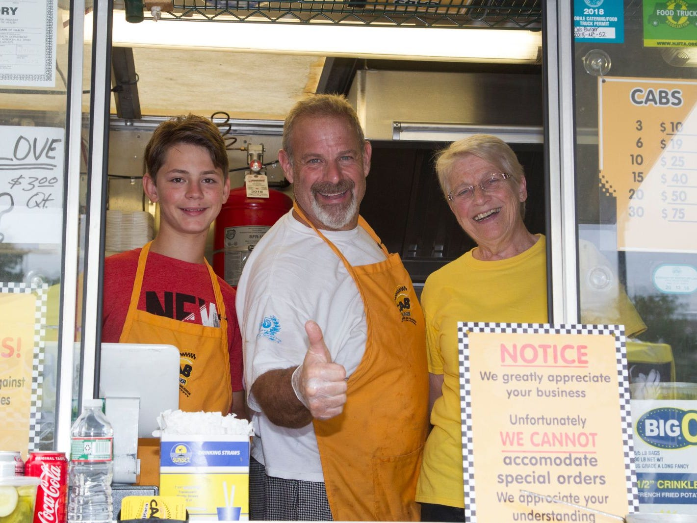 Taxi Cab Burger- Jesse, David and Susan. Paramus Food Truck Festival at Westfeld Garden State Plaza. 08/19/2018
