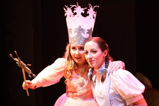 """Jenna Morris (left) portrayed Glinda the Good Witch and Lyndsey Brown played Dorothy in """"The Wizard of Oz"""" in 2011 at The Growing Stage – The Children's Theatre of New Jersey. A new production of the musical, featuring a new cast, will open the 2018-19 season at the Netcong theater."""