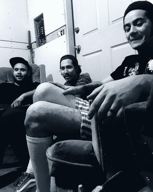 From left to right, the members of Mendel & Meosis: Julio Barrera, Johnny Chavez and Eddie Preciado.