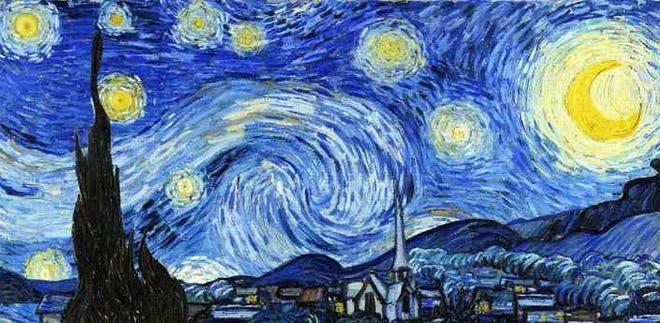 """The Starry Night,"" by Vincent van Gogh, one of the artists whose work will be explored in the Post-Impressionism course, part of the Feed Your Mind series hosted by the Doña Ana Arts Council."