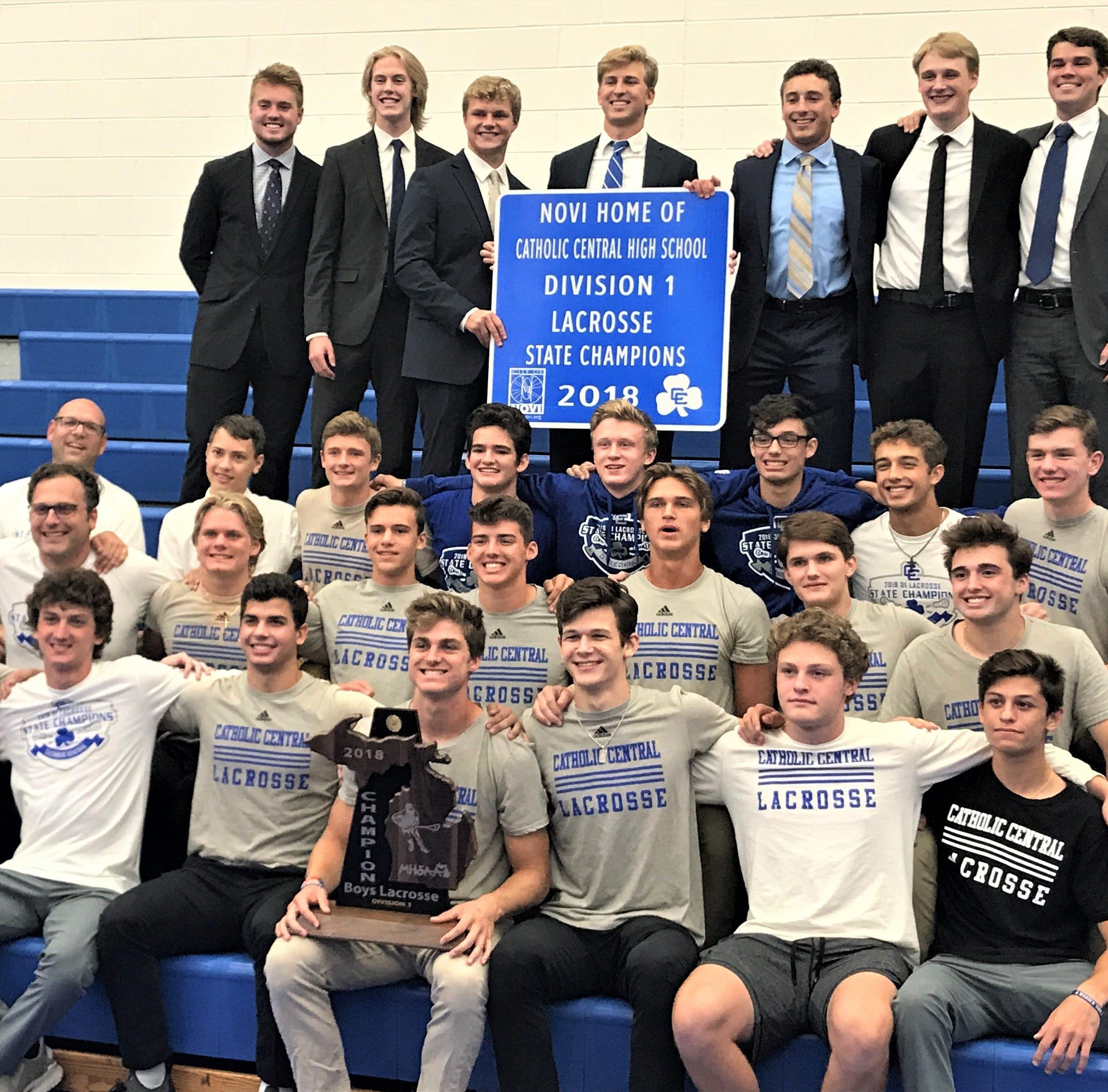 Detroit CC raises first state championship lacrosse banner