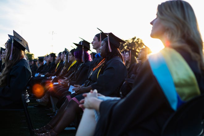 Graduation ceremony at Roseville High School in 2017.