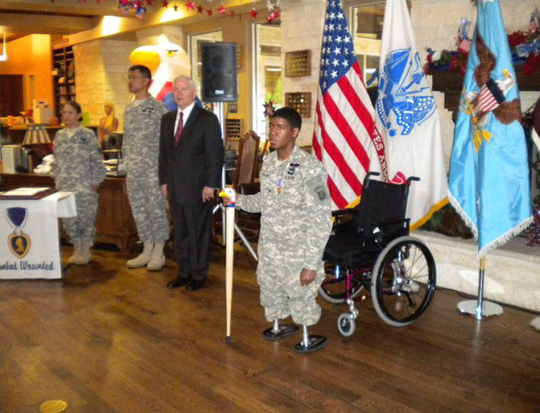 After the regional Solder's Wish campaign ends Oct. 20, a recipient will be chosen and a a formal presentation will take place honoring the hero. The event will be similar to the one pictured from another community in 2016.