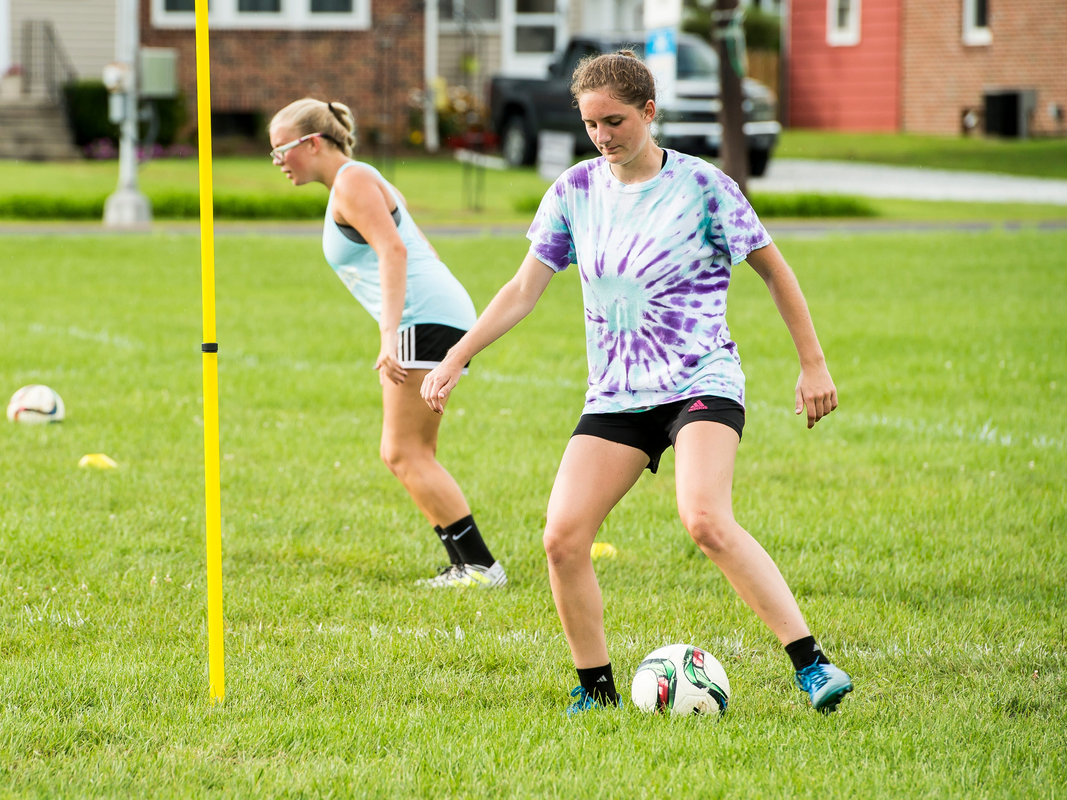 Fairfield soccer players practice on Monday, August 13, 2018.