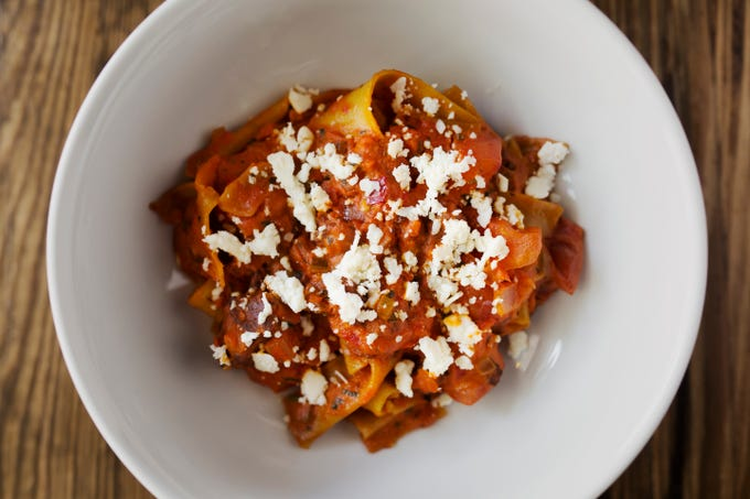 Parma Italian Roots' Pappardelle Bolognese.