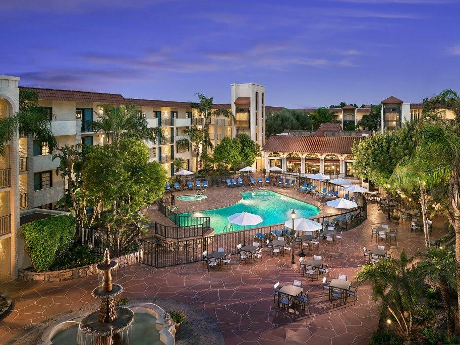 Embassy Suites Scottsdale |   Deal: Rates starting at $89 a night, which includes the chain's complimentary made-to-order breakfast and evening reception offering free drinks and snacks.  Activities: Poolside games, dive-in movies and a barbecue.  Details: 480-949-1414, scottsdale.embassysuites.com.