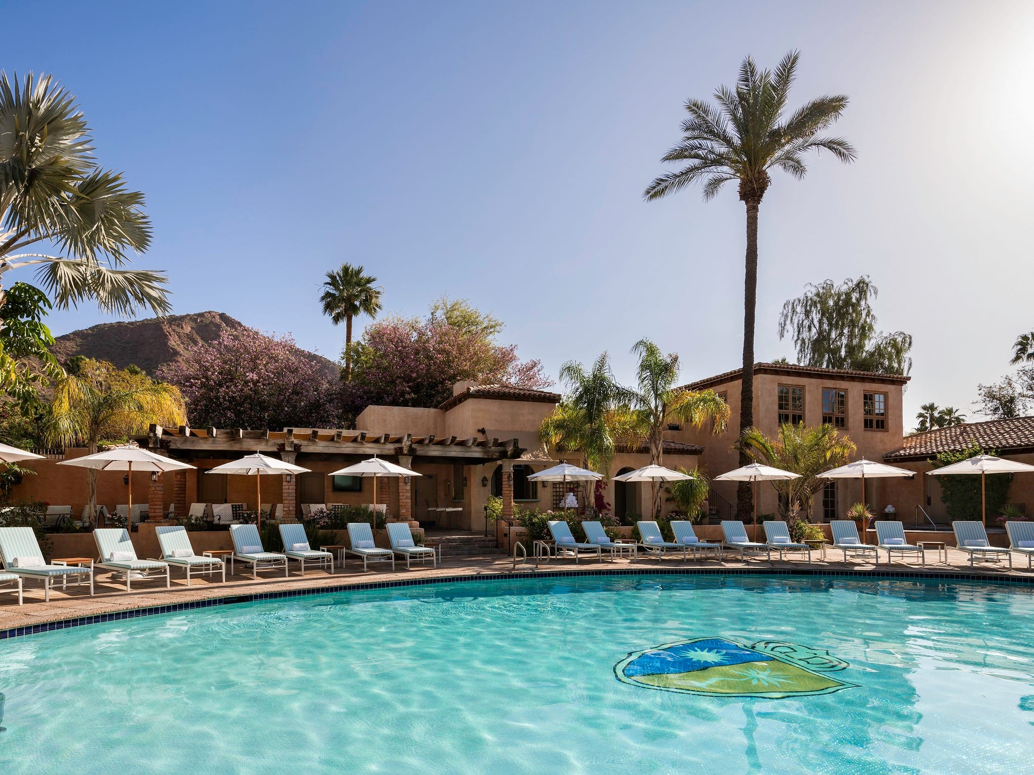 Royal Palms, Phoenix |   Deal: Rates starting at $199.  Activities: Movie at the pool at 8 p.m. Saturday, bingo at the pool all weekend, lawn games and complimentary yoga and tai chi.   Details: 602-283-1234, royalpalmshotel.com.