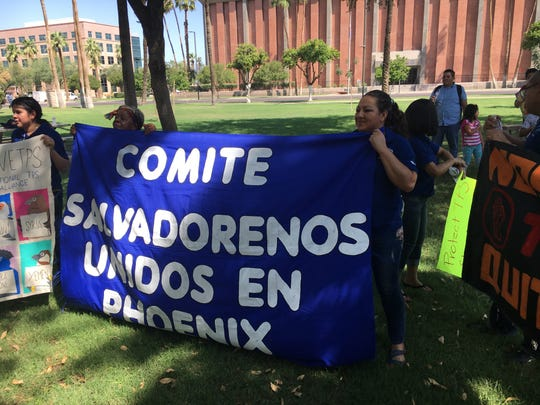 A caravan of immigrants is traveling across the country to protest the Trump administration's phase-out of temporary protections for several hundred thousand immigrants from countries recovering from war and natural disaster. The caravan stopped in Phoenix, where immigrants and supporters held a rally at the State Capitol.
