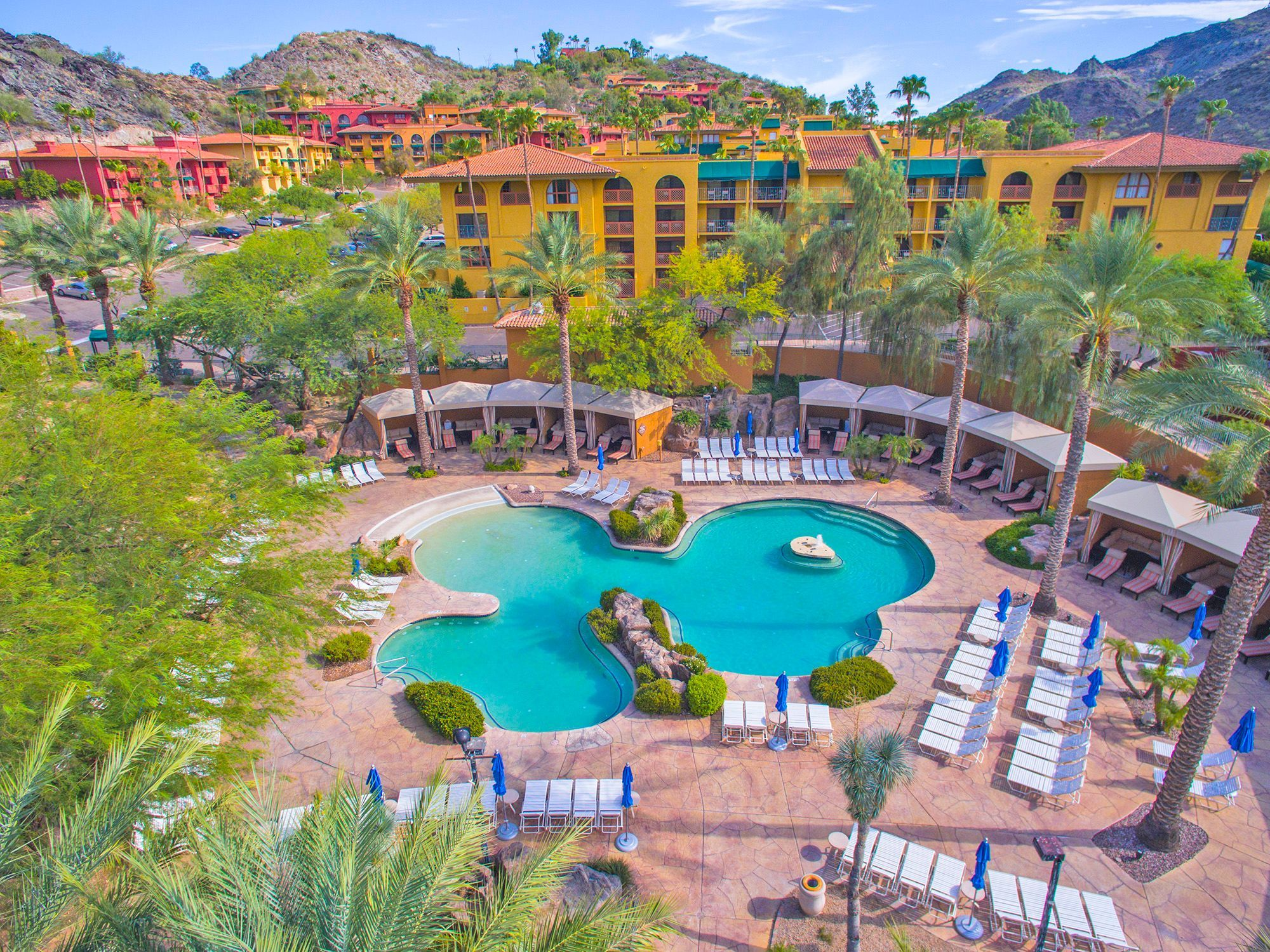 Pointe Hilton Tapatio Cliffs |   Deal: Rates starting at $110per night.  Activities: Poolside games and movies, Wildlife World Zoo visits, salsa challenges, scavenger hunts and  dining and drink specials.  Details: 602-866-7500, tapatiocliffshilton.com.