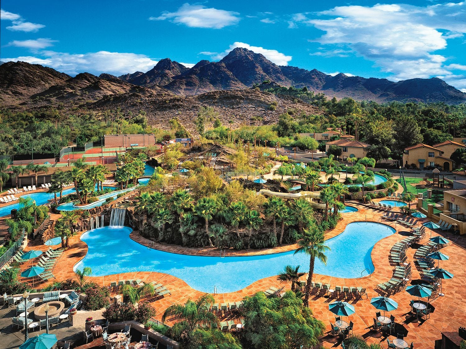 Pointe Hilton Squaw Peak, Phoenix |   Deal: Rates stating at $125 a night.  Activities: The resort's River Ranch pool complex will feature games, dive-in movies, arts and crafts, scavenger hunts and music.  Details: 602-997-2626, squawpeakhilton.com.