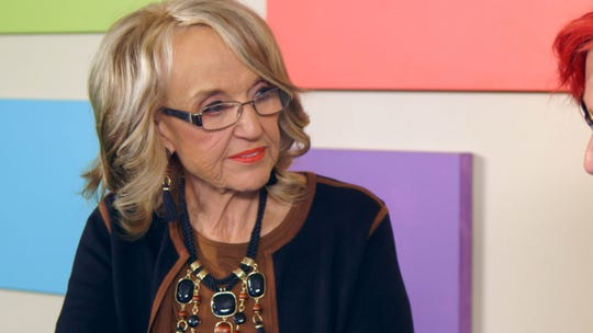 Jan Brewer in a still from 'Who is America?' episode 6.