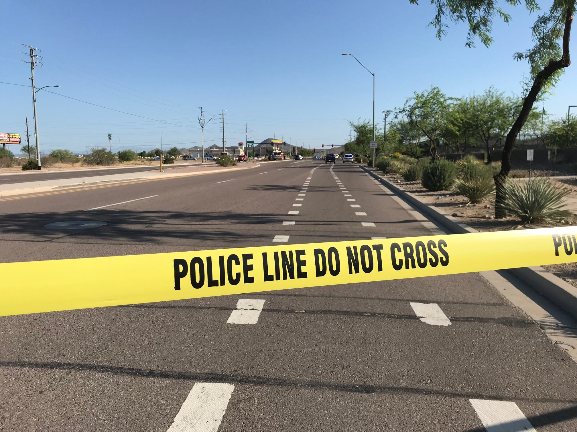 Seventh Street was closed at Deer Valley Road during the morning commute, Aug. 20, 2018, for an investigation of the deadly plane crash.