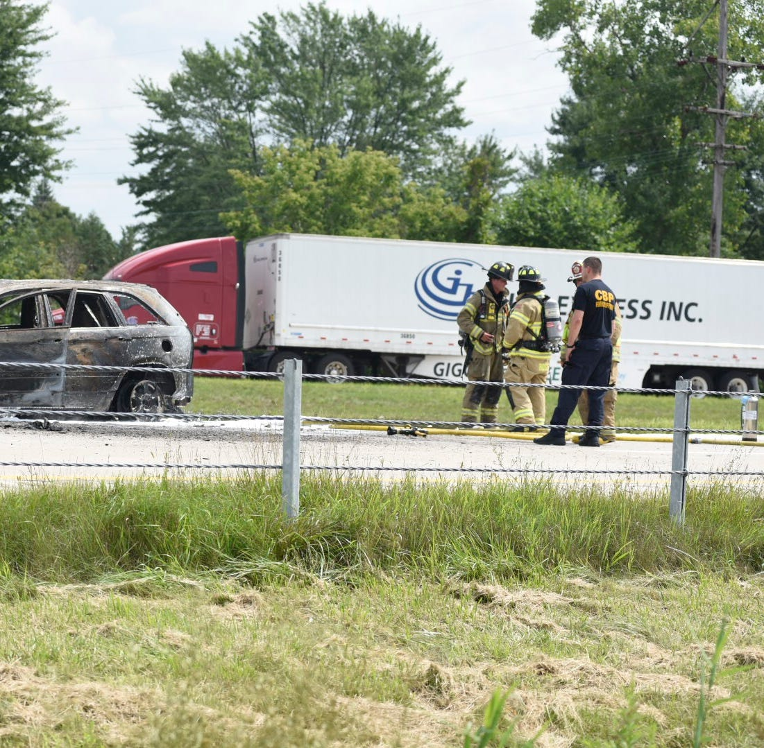 UPDATE: No injuries following vehicle fire on I-94