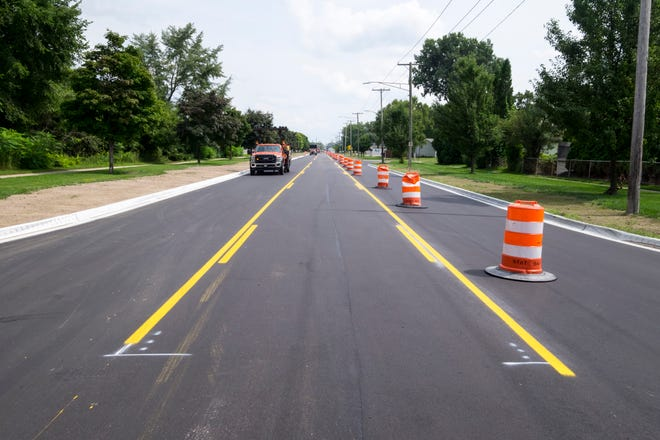 The construction on Huron Boulevard in Marysville is being completed two weeks ahead of schedule.