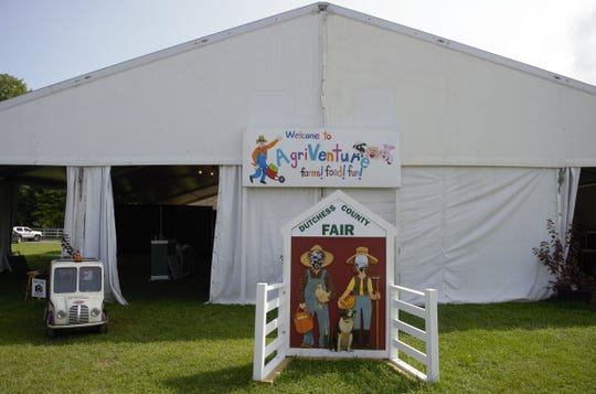 The AgriVenture tent first made its debut in 2016 as a 10-foot by 20-foot tent but this year it has grown to 66-foot by 80-foot as seen on Monday, Aug. 20, 2018.
