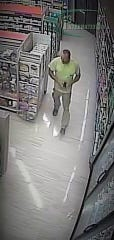 A second photo of a man suspected of taking items from the Rite Aid in Fairview Township.