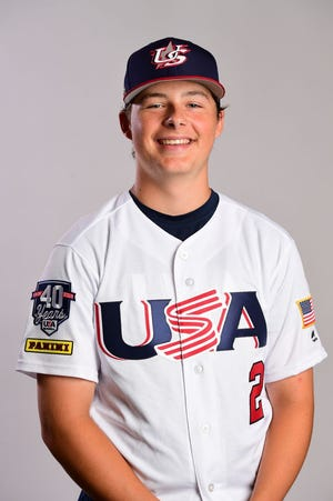 Gage Ziehl of Penfield on Team USA's 15U squad
