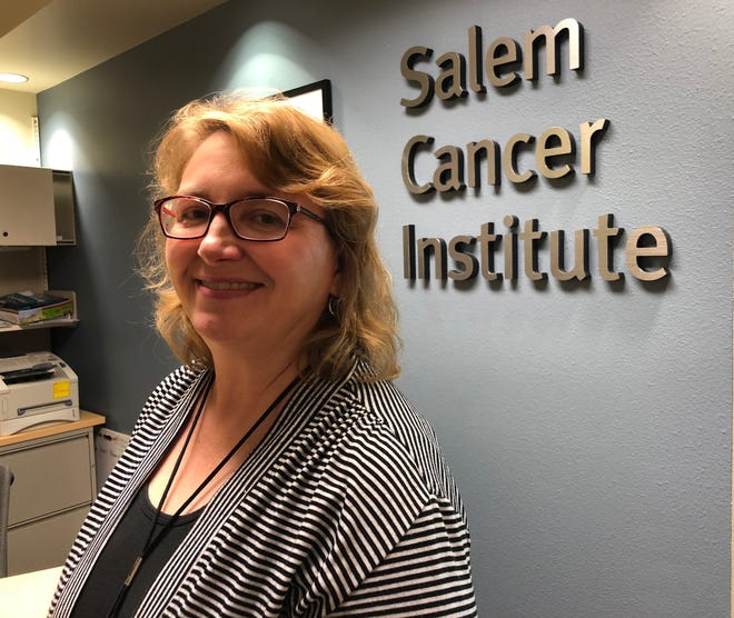 Nancy Ledbetter, a clinical nurse specialist, runs the cancer genetics program at the Salem Health Cancer Institute. Photographed Thursday, Aug. 16, 2018.