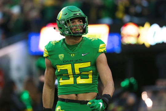 Oregon linebacker Troy Dye was the Ducks' leading tackler the last two seasons.