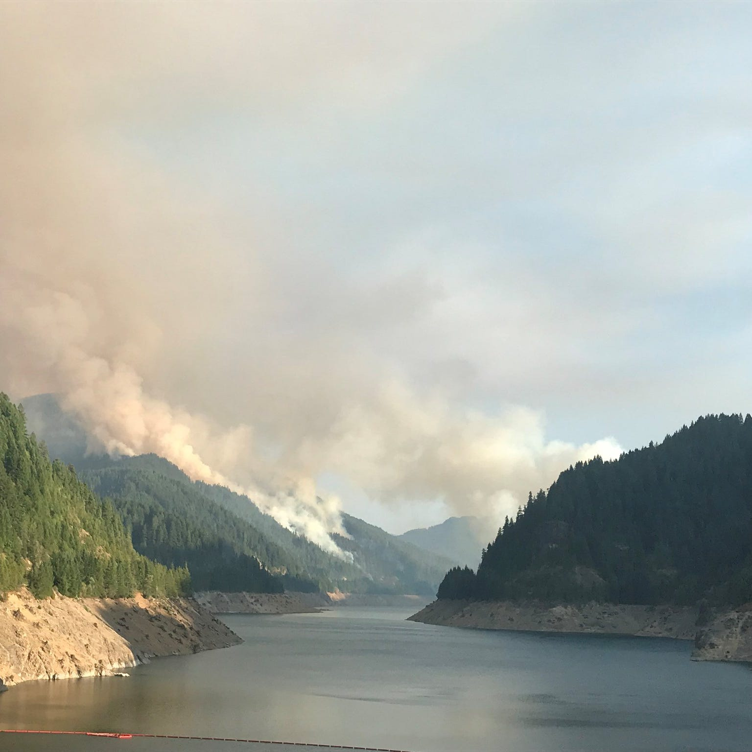 Fast-growing wildfire near Terwilliger Hot Springs now 110 acres, visitors asked to avoid area