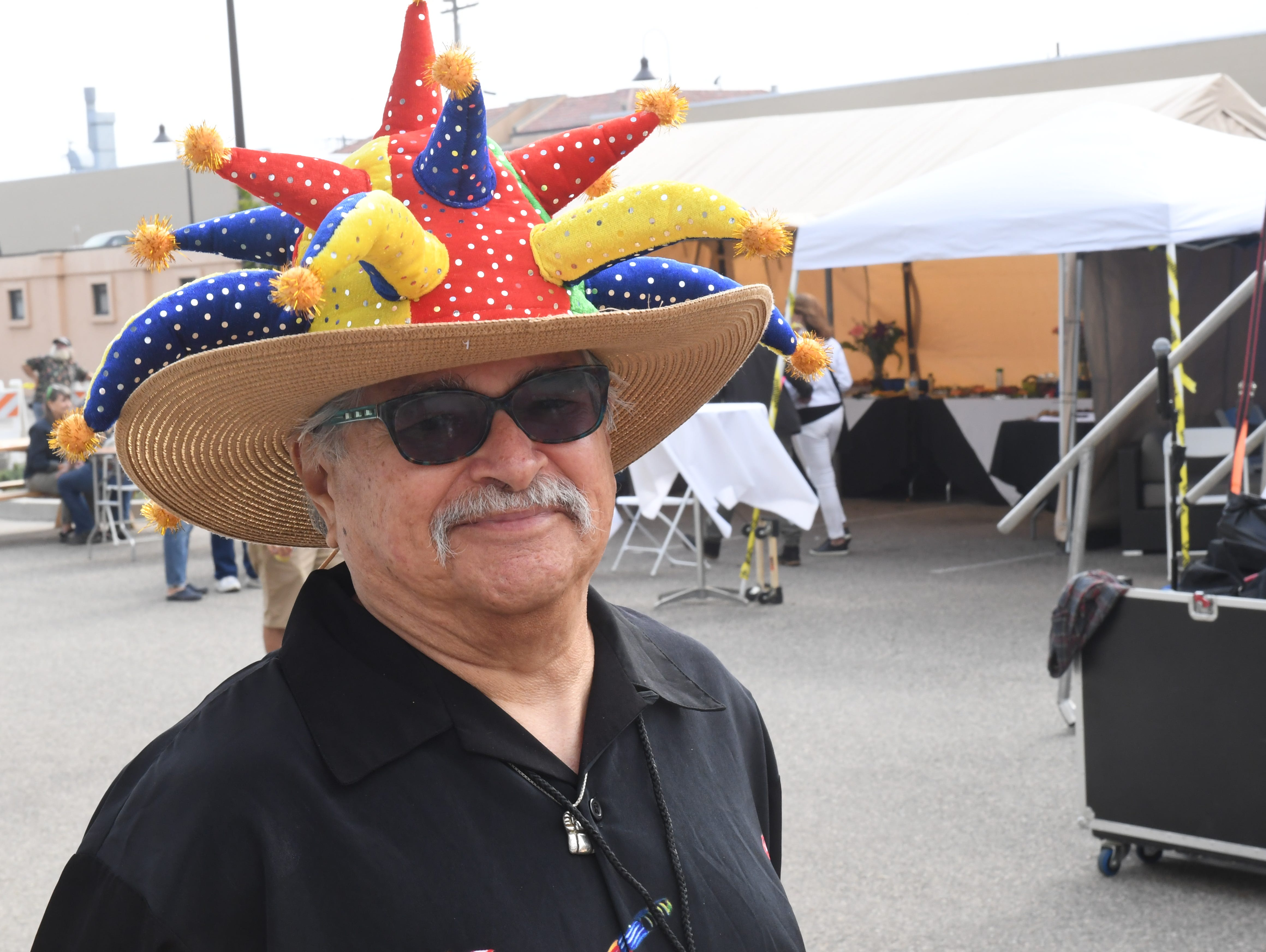 Fred Hernandez, of Pacific Grove, volunteered at the main stage for the 17th annual West End Festival Sunday in Sand City.