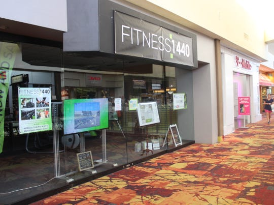 Presale location for Fitness 1440 near T-Mobile and Finish Line at Sunset Mall on Monday, Aug. 20, 2018.