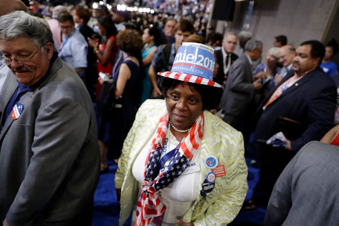 Shaun Brown, shown in this file image at the  2016 Democratic National Convention in Philadelphia, is running for the 2nd District Congress seat as an independent.