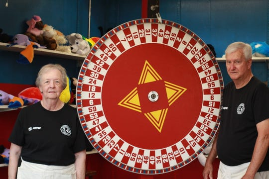 For nearly 16 years, Jerri and Jim Parsels have been running the animal wheel booth at the Sharptown Firemen's Carnival.