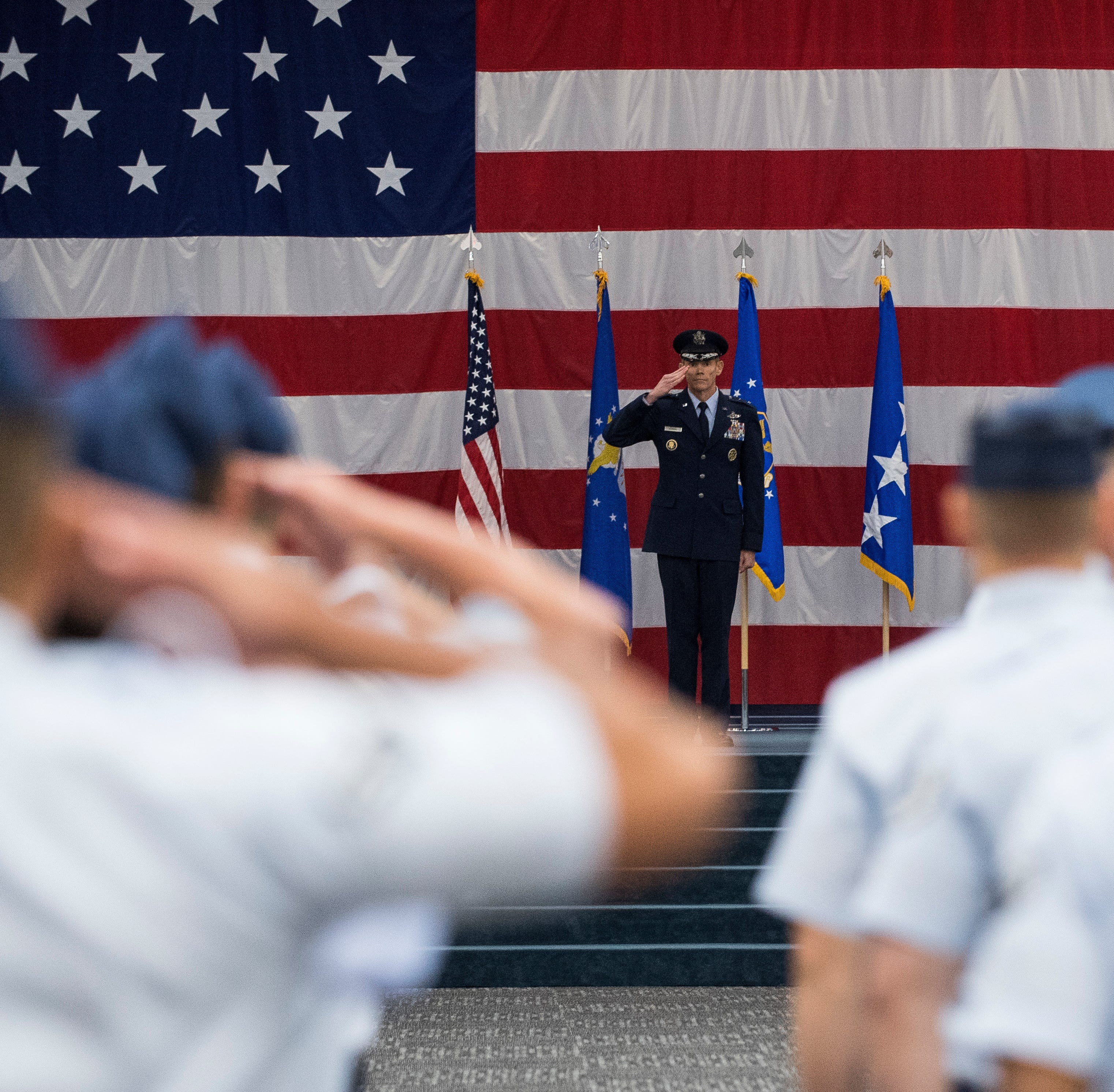 Command of Eighth Air Force changes hands